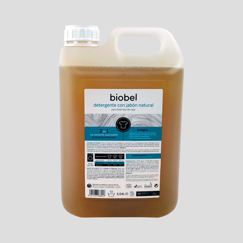 Detergente Ecológico Biobel 5l Certificado Por Ecocert Biobel